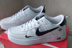NIKE AIR FORCE 1 AF1 OW White Black Size EU 36-44