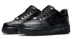 Nike AIR FORCE 1 All Black Low Sneakers 315122-001 Size EU36-45