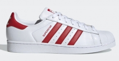 Adidas Superstar board shoes White Red Stripe  EU36-44