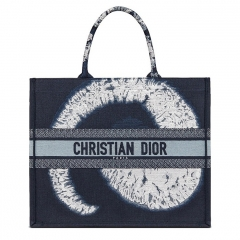 DIOR BOOK TOTE Embroidered Canvas Handbag